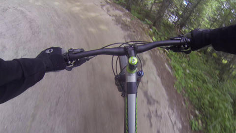 FIRST PERSON VIEW: Downhill biker extreme ride Footage