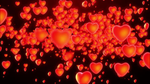 Heart Flying Valentine Love Footage