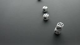 dice cast on black Footage