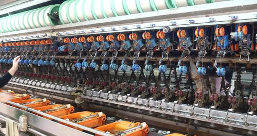 4k Silk Textile Factory Production Line,women Reel stock footage