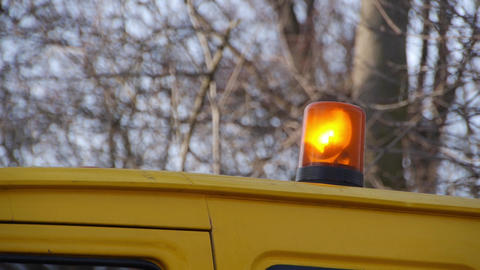 Car help with flashing orange light Footage
