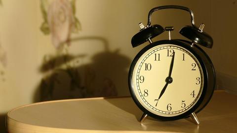 Vintage alarm clock Footage