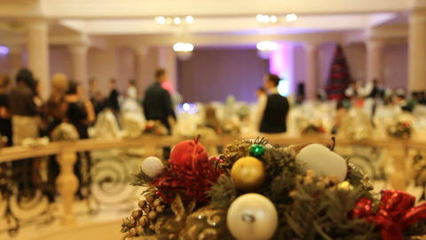 Christmas And New Year Party! stock footage