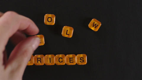 Letter Blocks Spell Lower Prices Footage