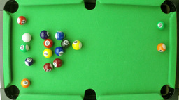 snooker balls in slow motion Footage