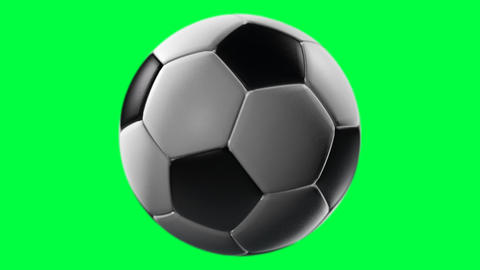 Soccer Ball, Loop Seamless, Alpha Channel stock footage