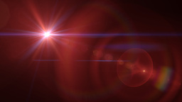 Red Super Nova Lens Flare Explosion Animation