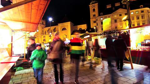 Christmas market in Vienna Footage