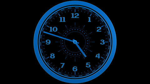 Clock Loop stock footage