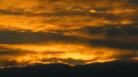Drama Sunset stock footage