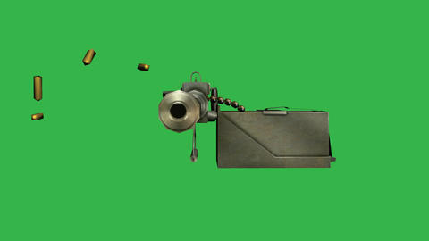 Furrer M25, Swiss Machine Gun (Front): Loop + Matt Animation
