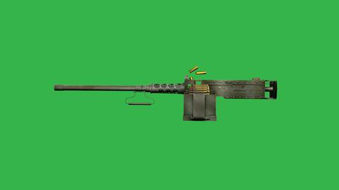 Furrer M25, Swiss Machine Gun (Side): Loop + Matte stock footage