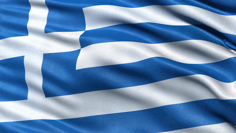 4K Flag of Greece seamless loop Ultra-HD Animation