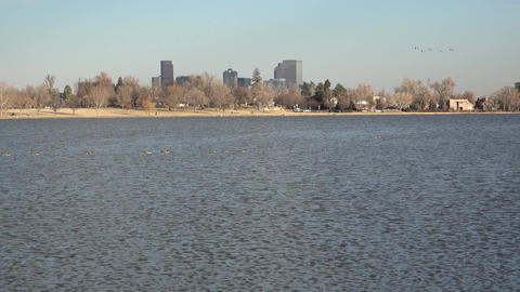 Sloan's Lake Pan Downtown Denver Live Action