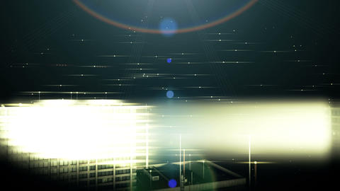 Background with office buildings at night, Stock Animation