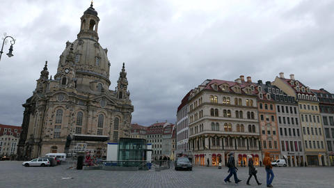 Cloudy weather in Dresden Footage