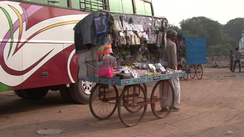 Indian souvenir seller Footage