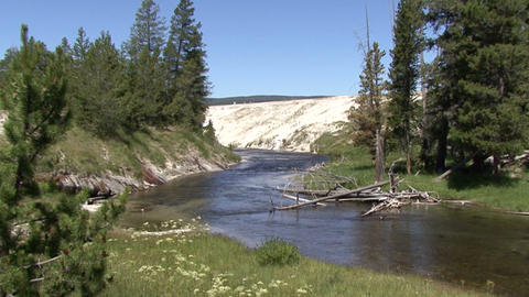 Yellowstone National Park. River Footage