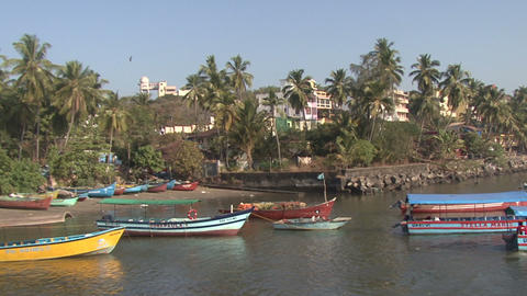 Goa Indian Port stock footage