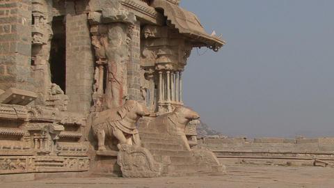 India Karnataka Hampi. The ruins of Vijayanagara Footage