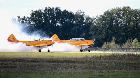 Smoking Aircraft stock footage