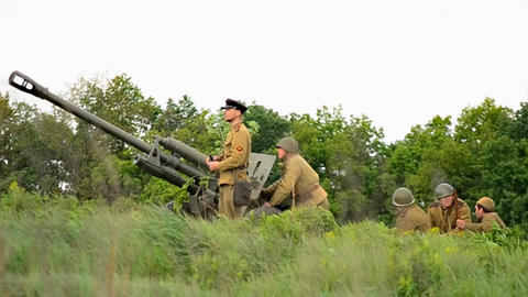 War Reconstruction stock footage
