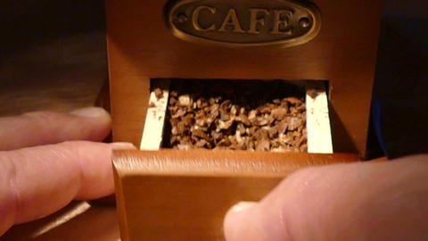 Box with ground coffee Footage
