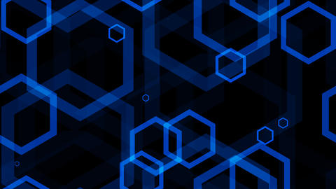 tileable blue hexa lines with alpha Animation