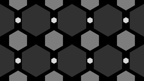tileable grayscale honeycomb pattern with alpha Animation