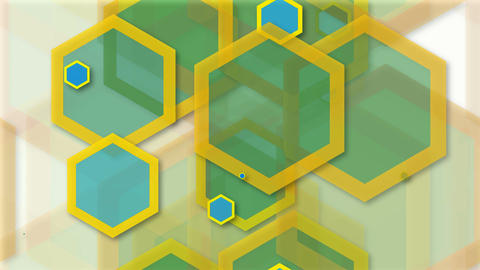 tileable hexagonal colorful shape Animation