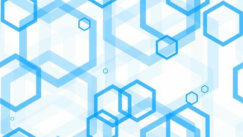 tileable hexagonal line blue Animation