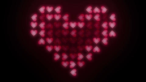 Hearts LED 8 Loops In 4K