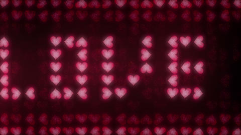 Hearts LED 8 Loops In 4K 0
