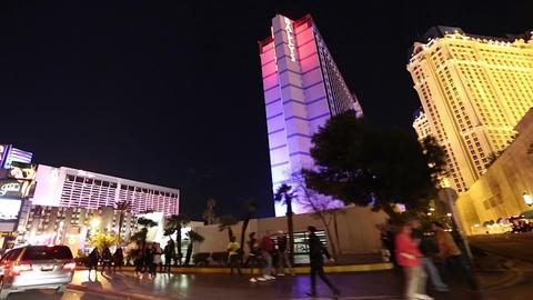 2 clip - driving shot Las Vegas strip driving shot Footage