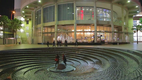 2 Angles - Spiral Fountain In Front Of The Sydney  stock footage