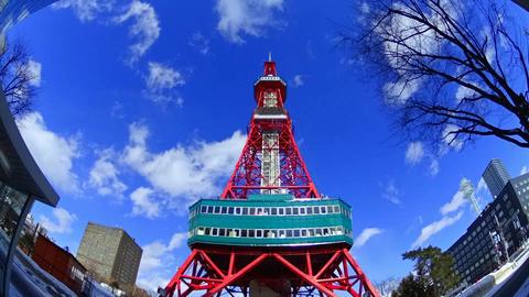 japan hokkaidou sapporocity TV tower 9 Footage