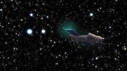 Satellite through moving stars Footage