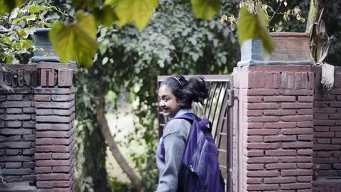 20131223 Dk Schoolgirl 0007 stock footage