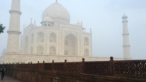 20140222 Dk Taj Mahal Agra 0027 stock footage