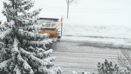 Snow Bulldozer stock footage