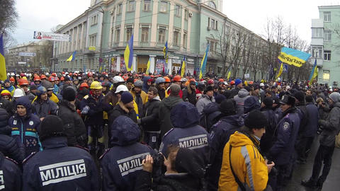 Strike in Ukraine - encounter of opposing forces! Footage