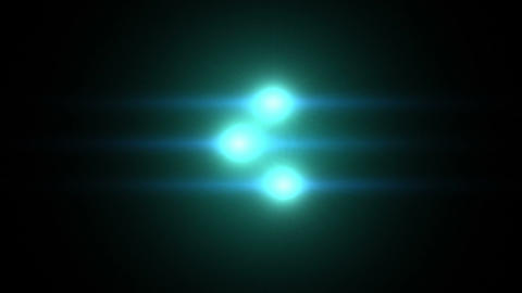 3 Flares stock footage
