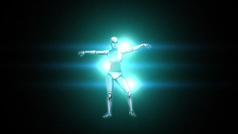 Dancing Robot Girl Animation