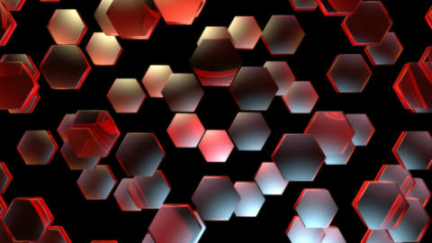 red hexagonal pieces Animation