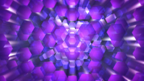purple hexagonal optic Animation