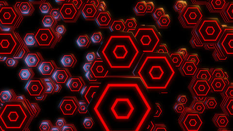 3d hexagonal pop Animation