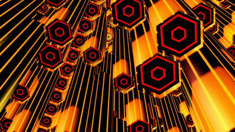 yellow hexa tubes Animation