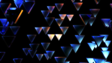 glowing triagonal lights Animation