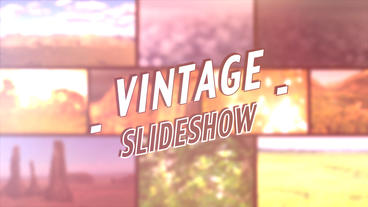 Vintage Slideshow - Apple Motion and Final Cut Pro X Template Plantilla de Apple Motion