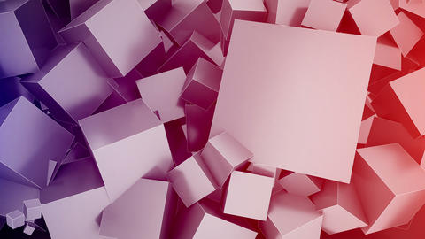 Cubes Background with space for text. Seamless loo Animation